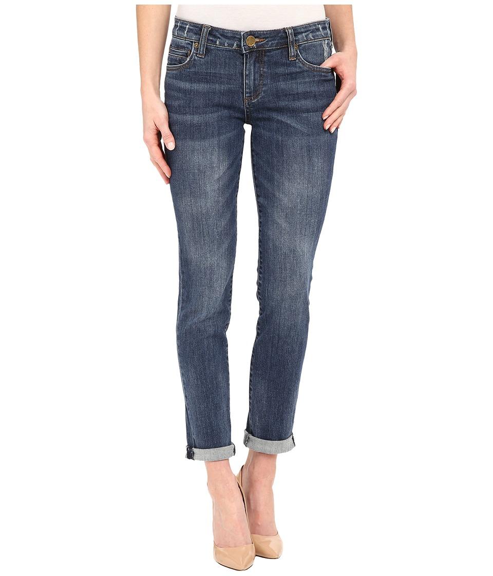 KUT from the Kloth - Catherine Boyfriend Jeans in Worldly w/ Medium Base Wash
