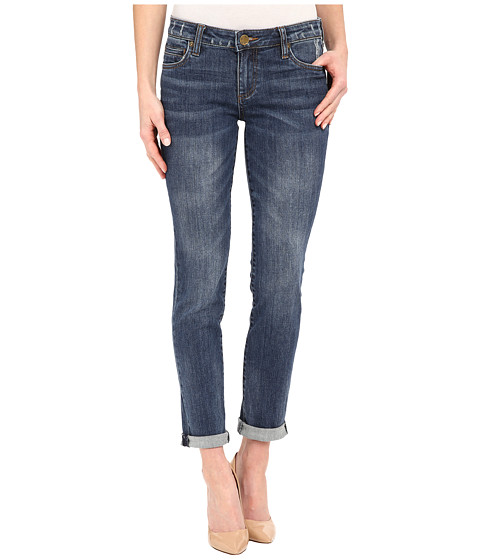 KUT from the Kloth Catherine Boyfriend Jeans in Worldly w/ Medium Base Wash - Worldly/Medium Base Wash