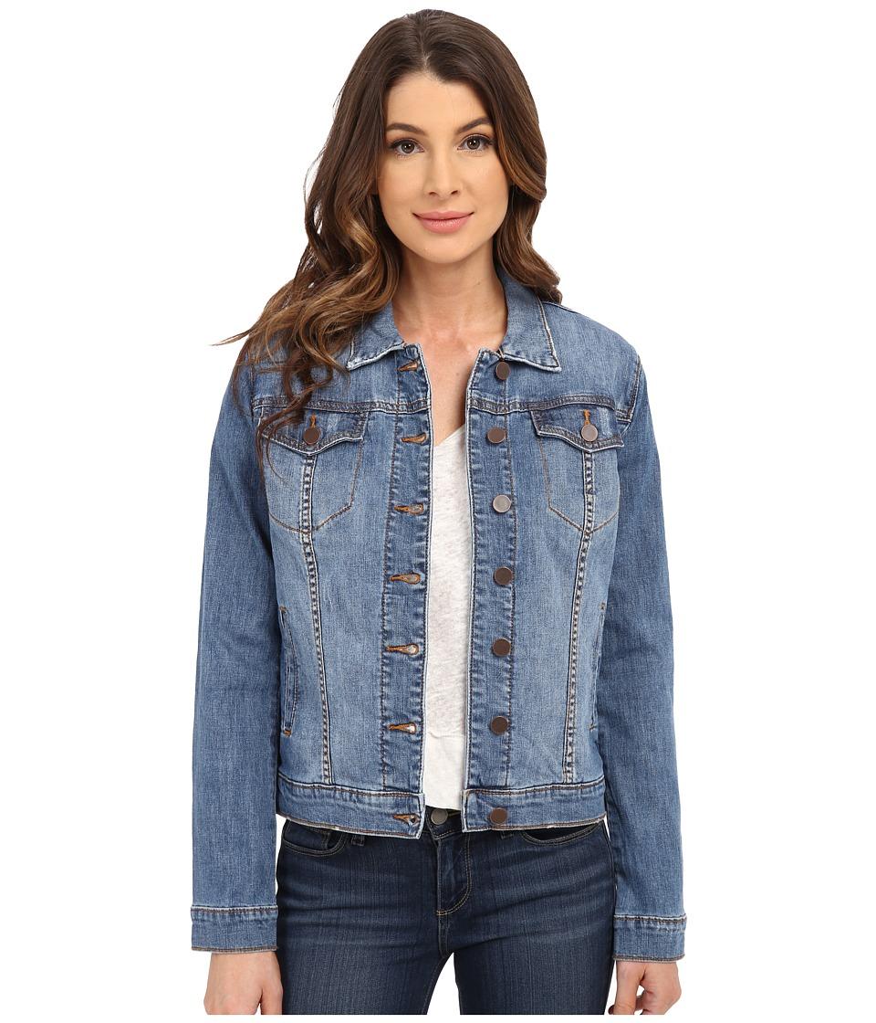 KUT from the Kloth Button Front Jacket w/ Pocket Flaps Zealous/Medium Base Wash Womens Coat