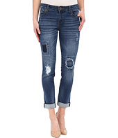 KUT from the Kloth - Catherine Boyfriend Patch Jeans in Accountability w/ Medium Base Wash