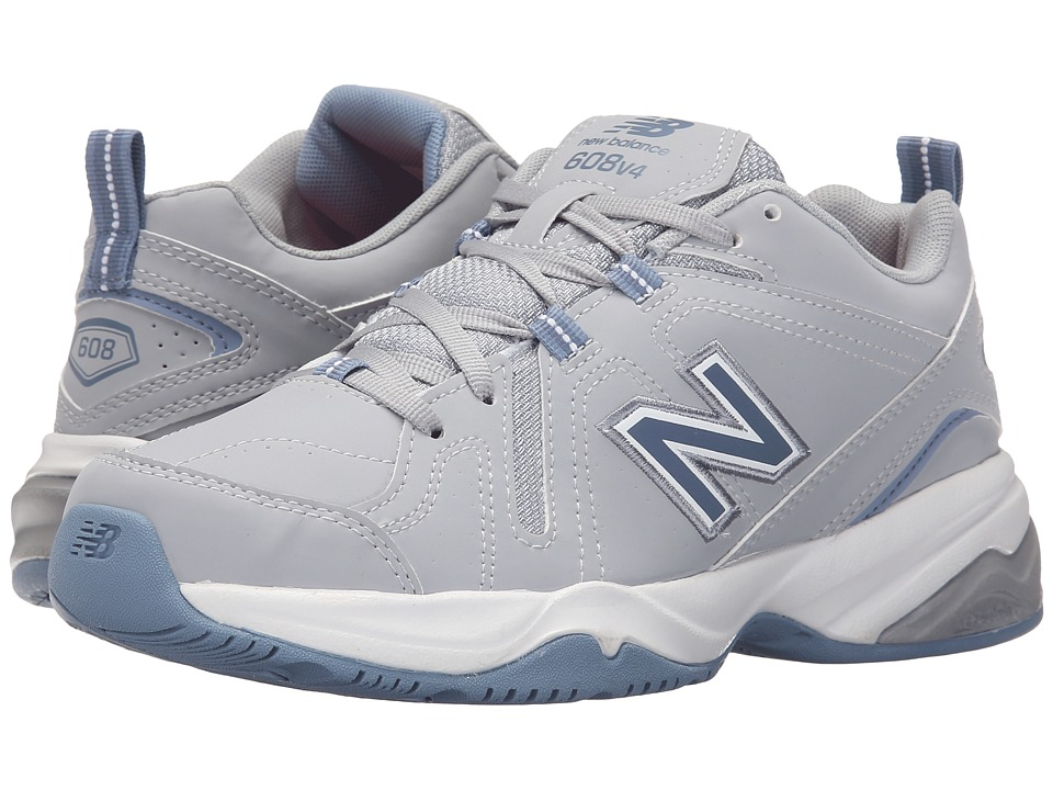 New Balance - WX608v4 (Grey/Blue) Womens Walking Shoes