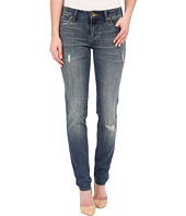 KUT from the Kloth - Diana Skinny Jeans in Zest w/ Dark Stone Base Wash