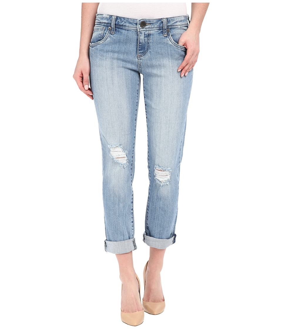 KUT from the Kloth Adele Slouchy Boyfriend Jeans in Touch w/ New Vintage Base Wash Touch/New Vintage Base Wash Womens Jeans