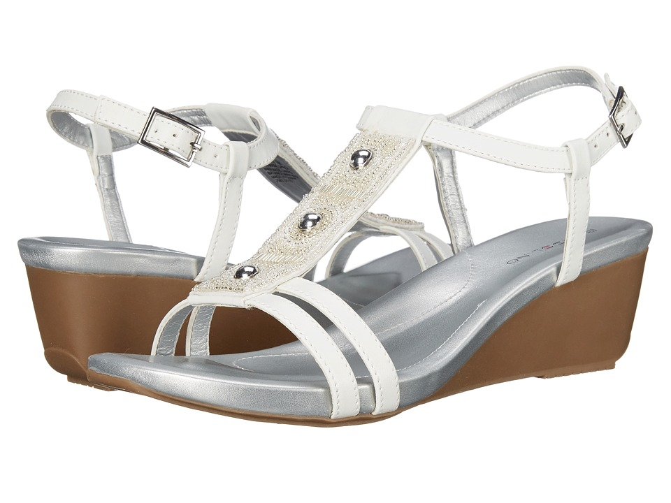 Bandolino Hettie White Synthetic Womens Sandals