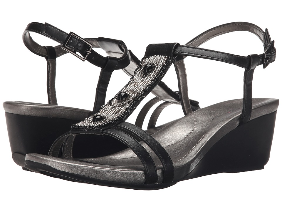 Bandolino Hettie Black Synthetic Womens Sandals