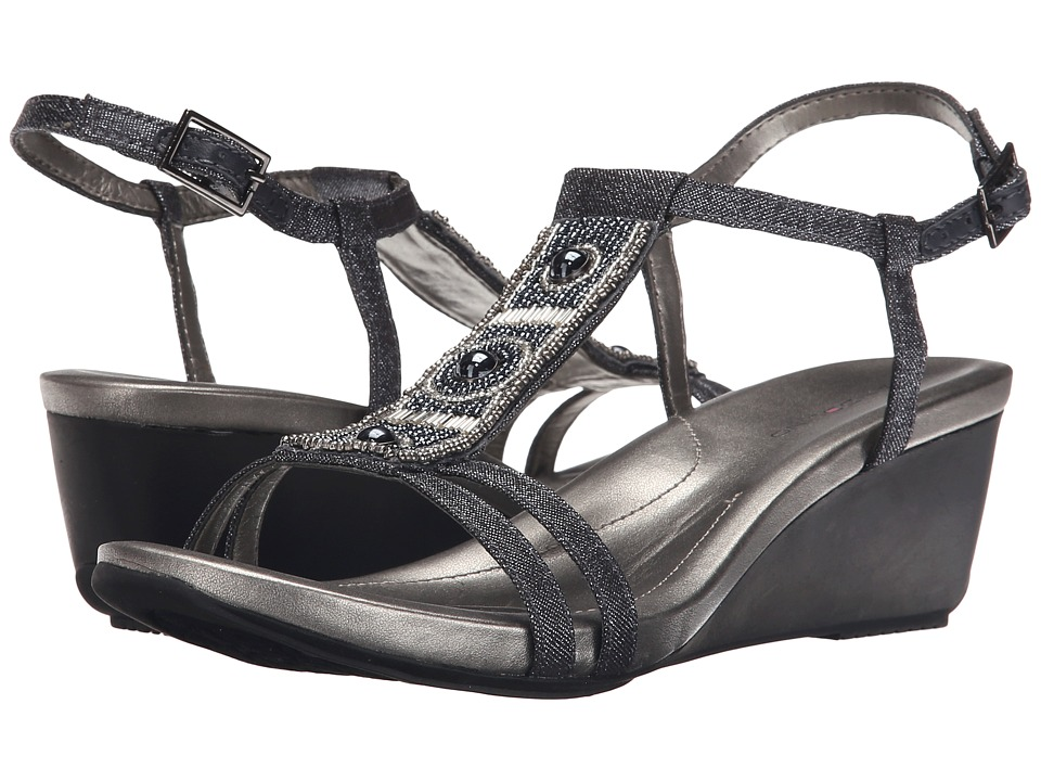 Bandolino Hettie Dark Blue Fabric Womens Sandals