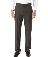Perry Ellis - Tonal Plaid Flat Front Pants