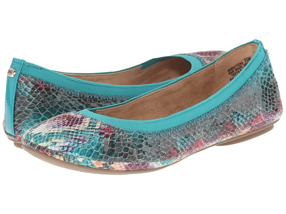 Bandolino Edition Medium Turquoise Combo Synthetic Womens Flat Shoes