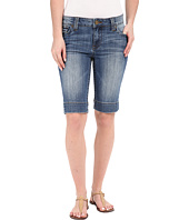 KUT from the Kloth - Natalie Bermuda Shorts in Timeliness w/ Medium Base Wash