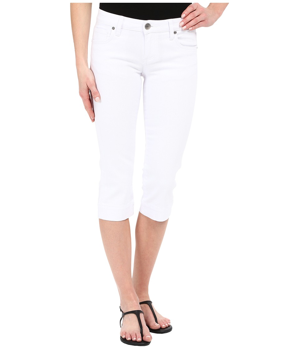 KUT from the Kloth Basic Five Pocket Crop Jeans in Optic White Optic White Womens Jeans