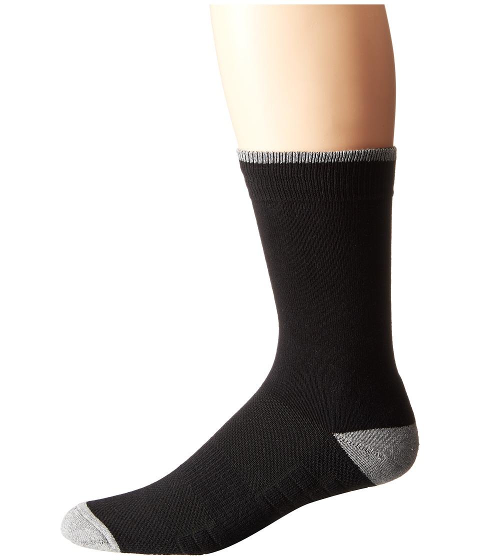 Ministry of Supply Atlas Dress Socks Black Mens Crew Cut Socks Shoes