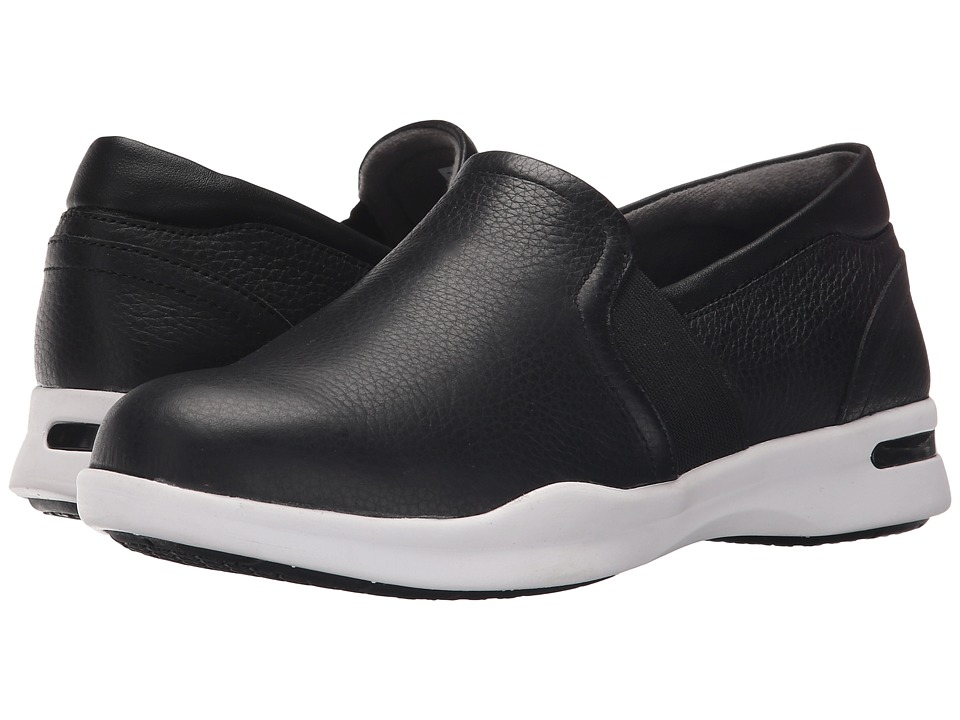 SoftWalk Vantage Black Nappa Tumbled Leather 2 Womens Slip on Shoes
