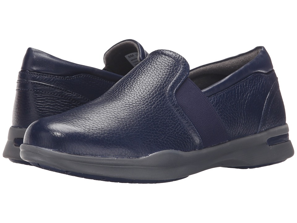 SoftWalk Vantage Navy Nappa Tumbled Leather 2 Womens Slip on Shoes