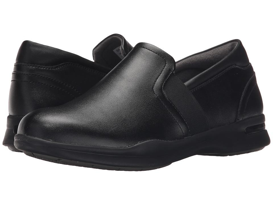 SoftWalk Vantage Black Action Leather Womens Slip on Shoes