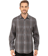 Perry Ellis - Long Sleeve Ombre Plaid Pattern Shirt