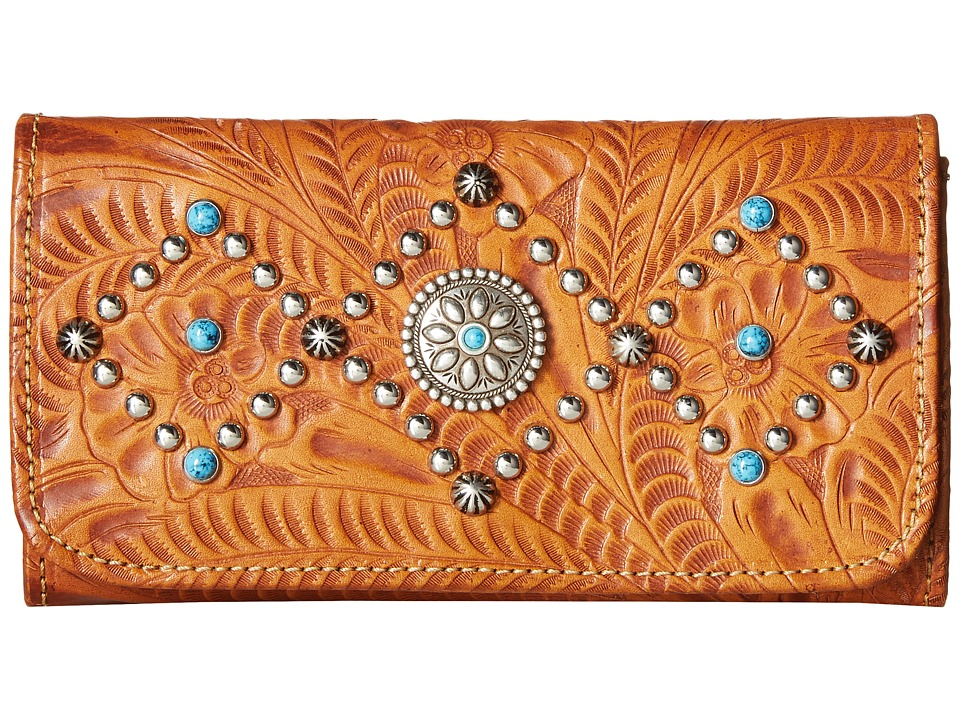American West - Canyon Creek Tri-fold Wallet (Golden Tan) Wallet Handbags