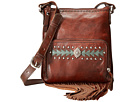 American West Moon Dancer Crossbody/Wallet (Chestnut Brown/Light Turquoise)