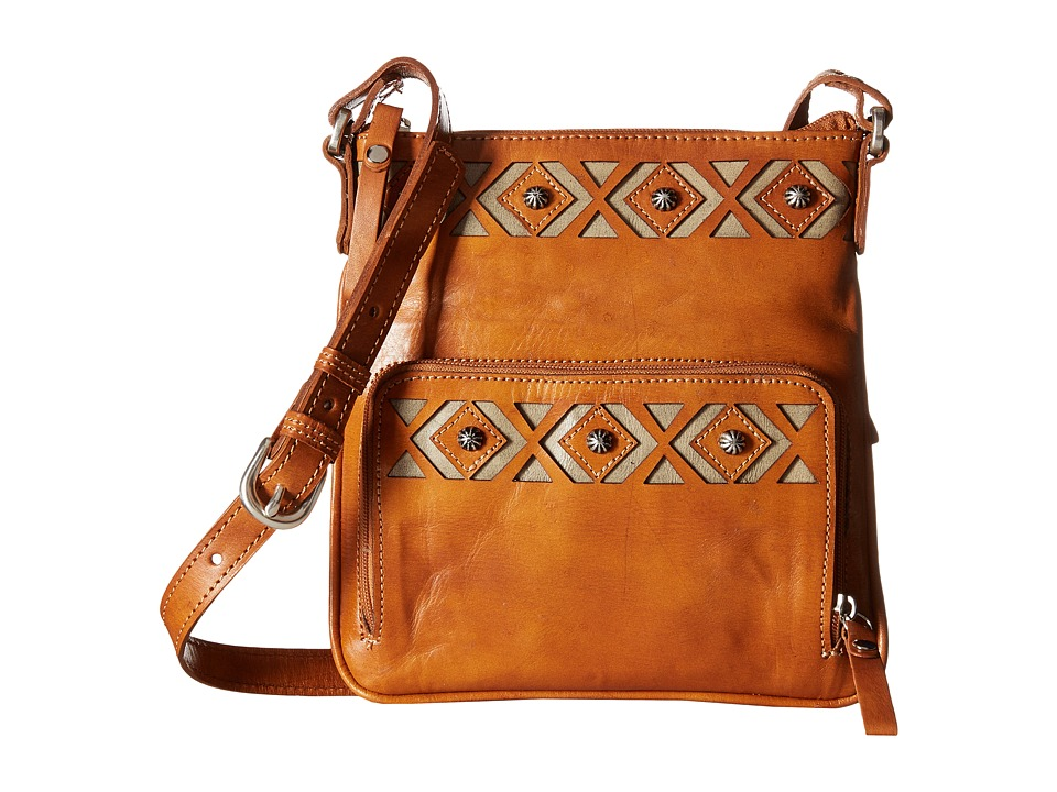 American West - Moon Dancer Crossbody/Wallet (Golden Tan/Sand) Cross Body Handbags