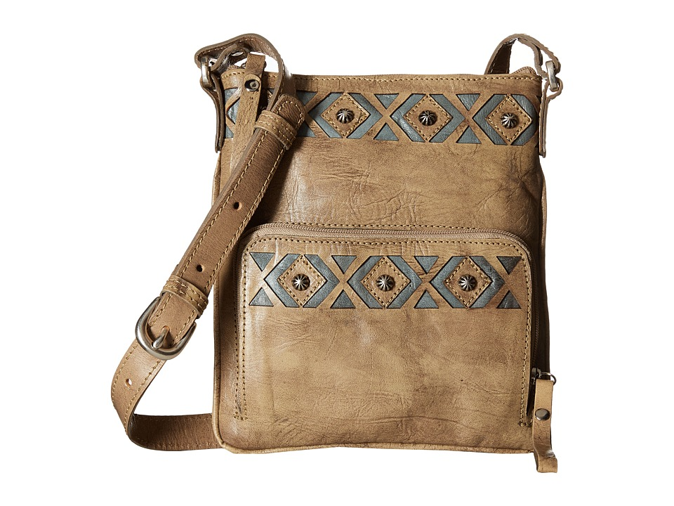 American West - Moon Dancer Crossbody/Wallet (Sand/Blue) Cross Body Handbags