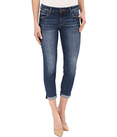 KUT from the Kloth - Catherine Slim Boyfriend Jeans in Savior w/ Medium Base Wash