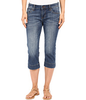 KUT from the Kloth - Natalie Basic Five-Pocket Crop Jeans in Special w/ Medium Base Wash