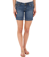 KUT from the Kloth - Natalie Chunky Stitch Shorts in Truth w/ Medium Base Wash