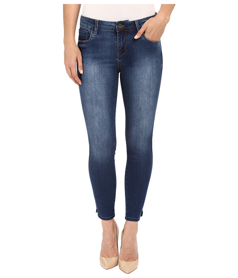 KUT from the Kloth Eva Ankle Skinny Jeans in Valid w/ Dark Stone Base Wash