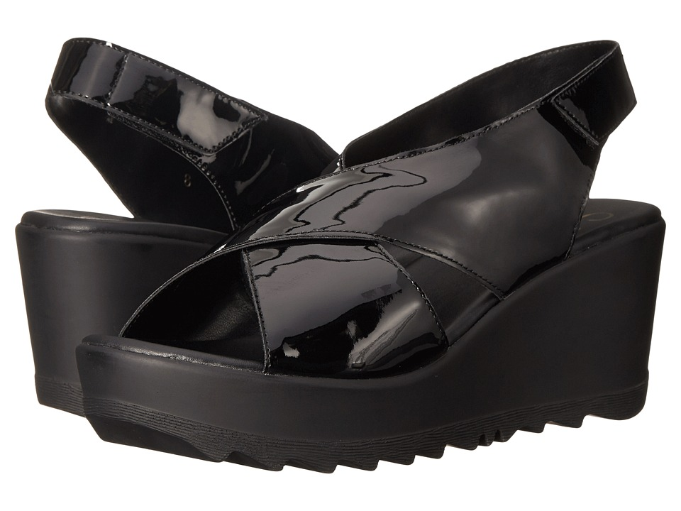 Callisto of California Torro Black Womens Wedge Shoes