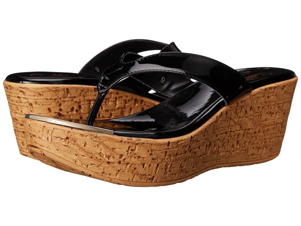 Callisto of California Jaynie Black Patent Womens Sandals