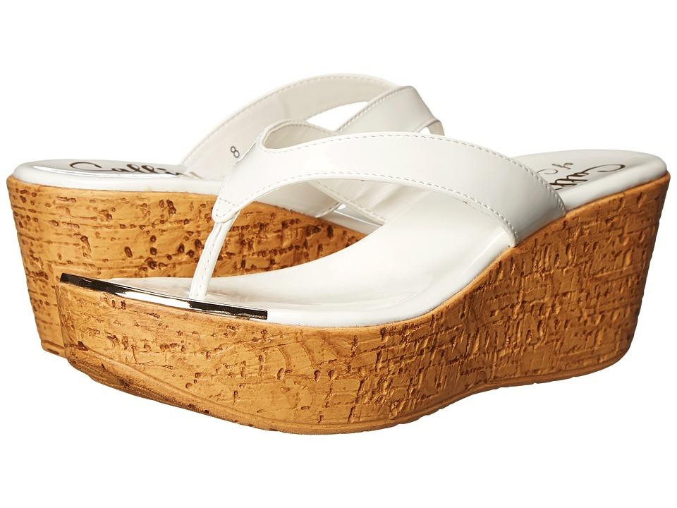 Callisto of California Jaynie White Patent Womens Sandals