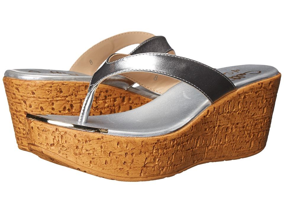 Callisto of California Jaynie Silver Womens Sandals