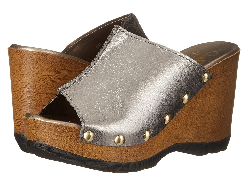 Callisto of California Rennee Pewter Womens Clog/Mule Shoes