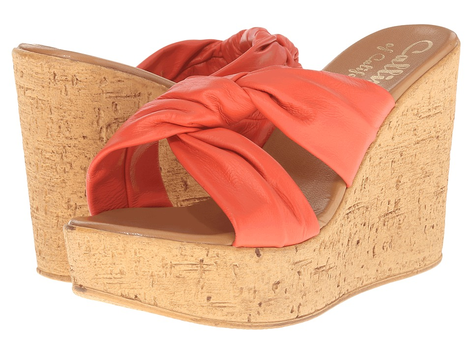 Callisto of California Rachel Coral Womens Wedge Shoes