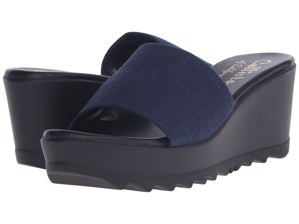 Callisto of California Lars Navy Womens Wedge Shoes