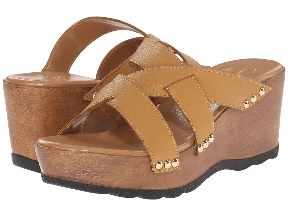 Callisto of California Syrah Tan Womens Clog/Mule Shoes