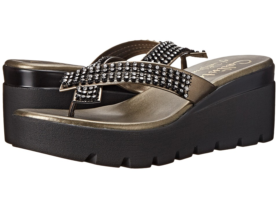 Callisto of California Simie Pewter Womens Sandals