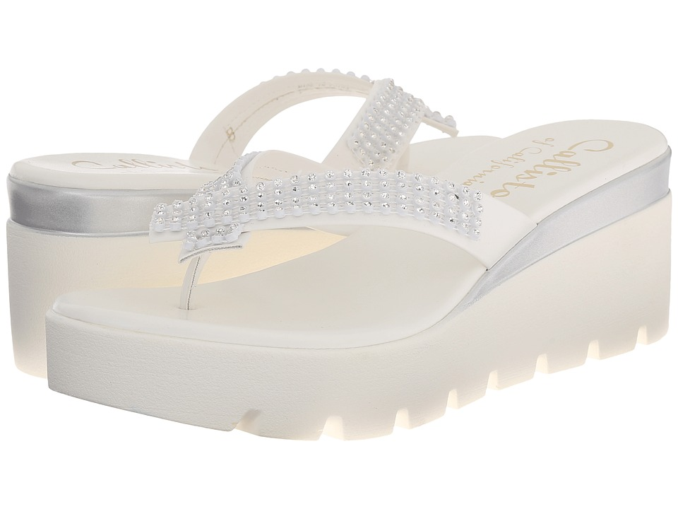 Callisto of California Simie White Womens Sandals