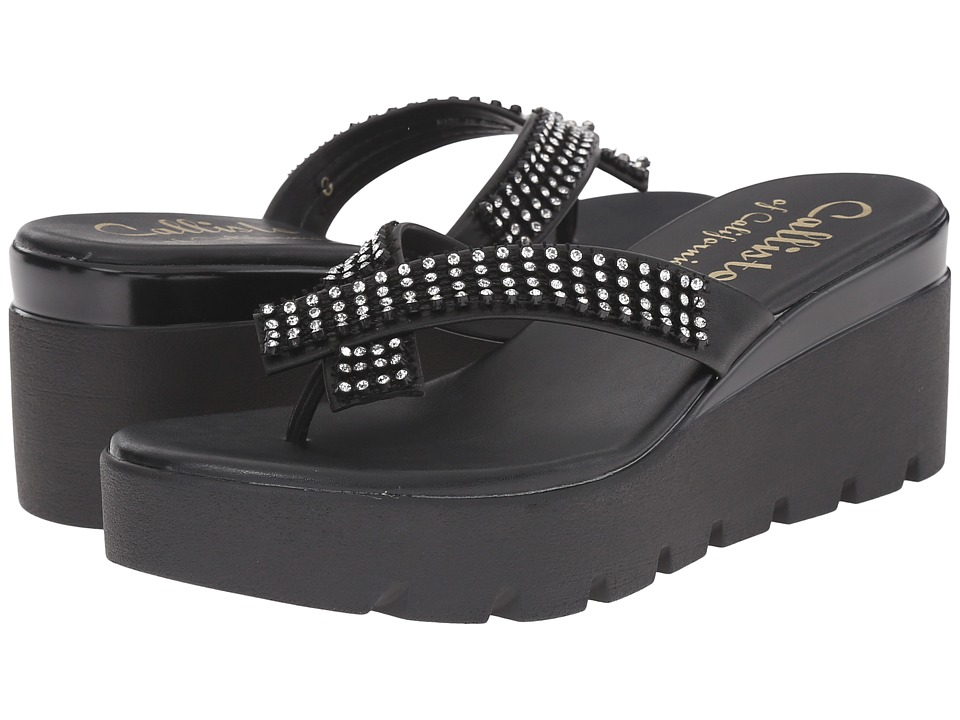 Callisto of California Simie Black Womens Sandals