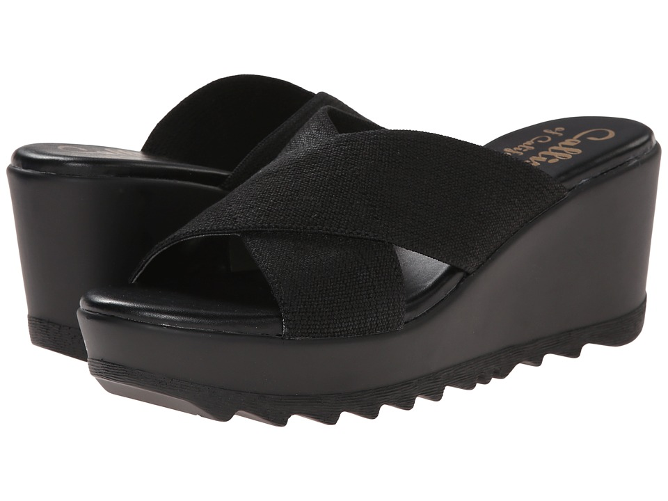 Callisto of California Landis Black Womens Slide Shoes