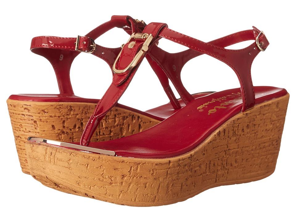 Callisto of California Bindi Red Patent Womens Sandals