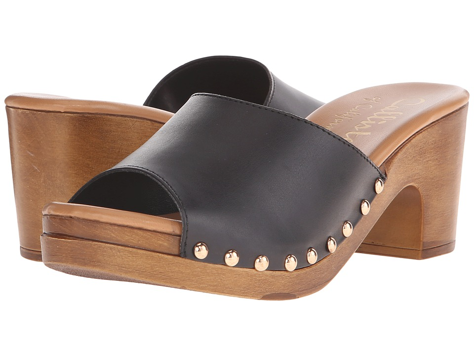 Callisto of California Danna Black Womens Slide Shoes