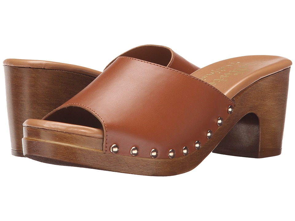 Callisto of California Danna Cognac Womens Slide Shoes