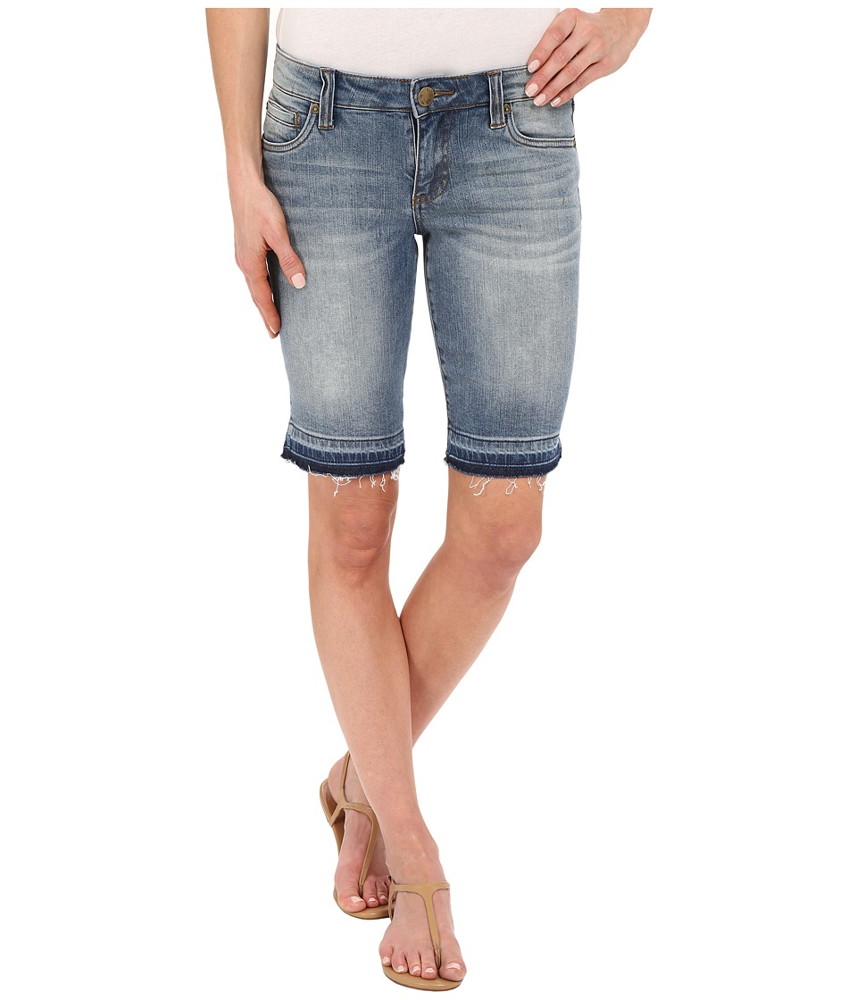 KUT from the Kloth Bermuda Five Pocket Basic Shorts in Serve w/ Medium Base Wash Serve/Medium Base Wash Womens Shorts