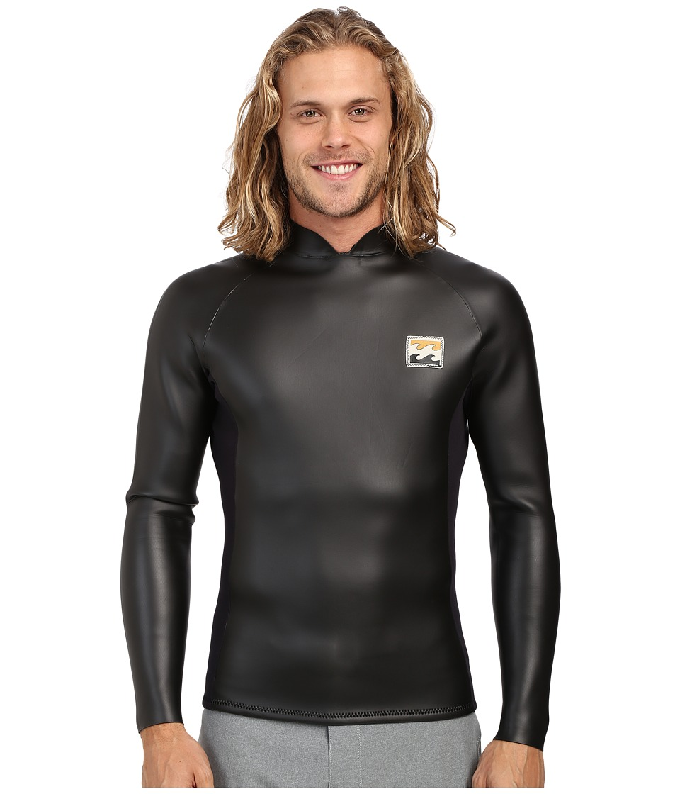 Billabong 202 Reverse Reissue Back Zip Wetsuit Black Mens Wetsuits One Piece