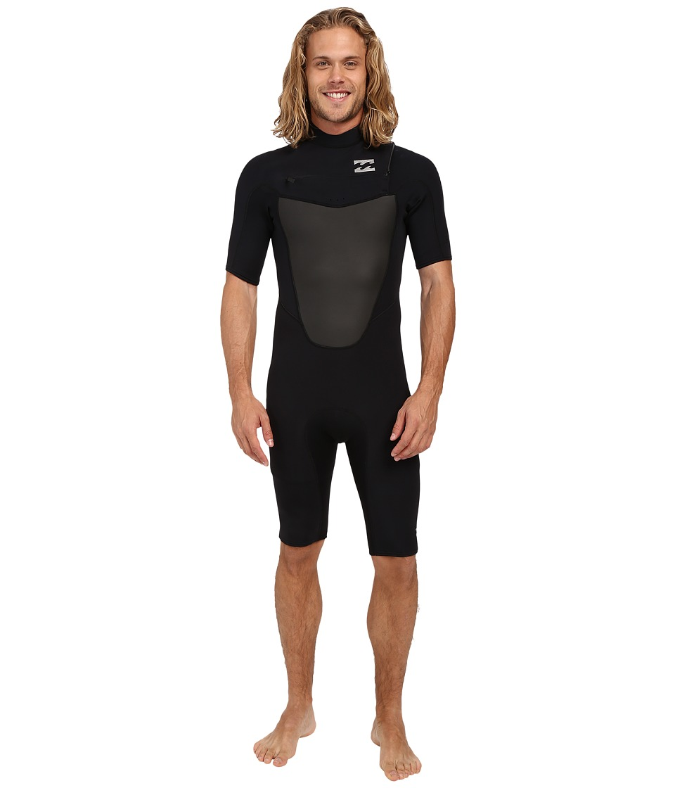 Billabong 202 Foil Chest Zip Spring Wetsuit Black Mens Swimsuits One Piece