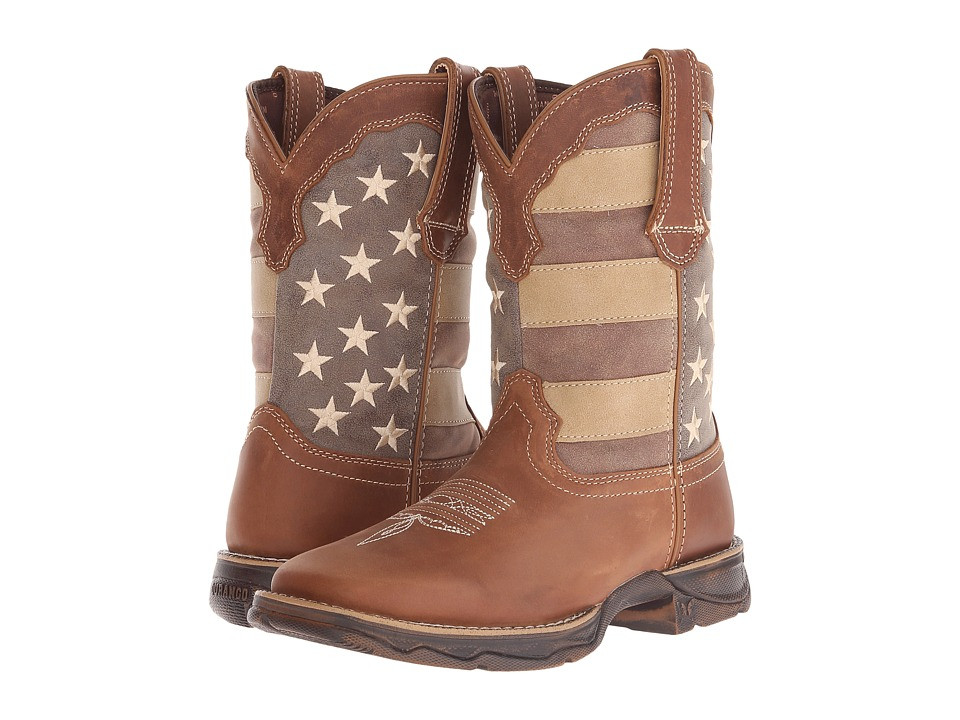 Durango - Rebel 10 Faded Glory (Brown/Patriotic) Women
