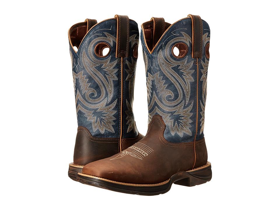 Durango - Rebel 12 Western (Tan/Blue) Cowboy Boots