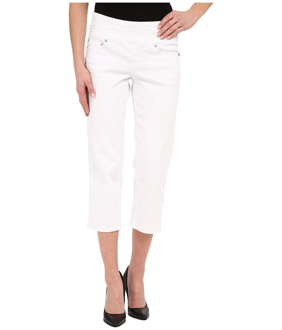 Jag Jeans Echo Crop in White Denim White Womens Jeans
