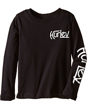 Hurley Kids - Original Vintage Long Sleeve Tee (Little Kids)