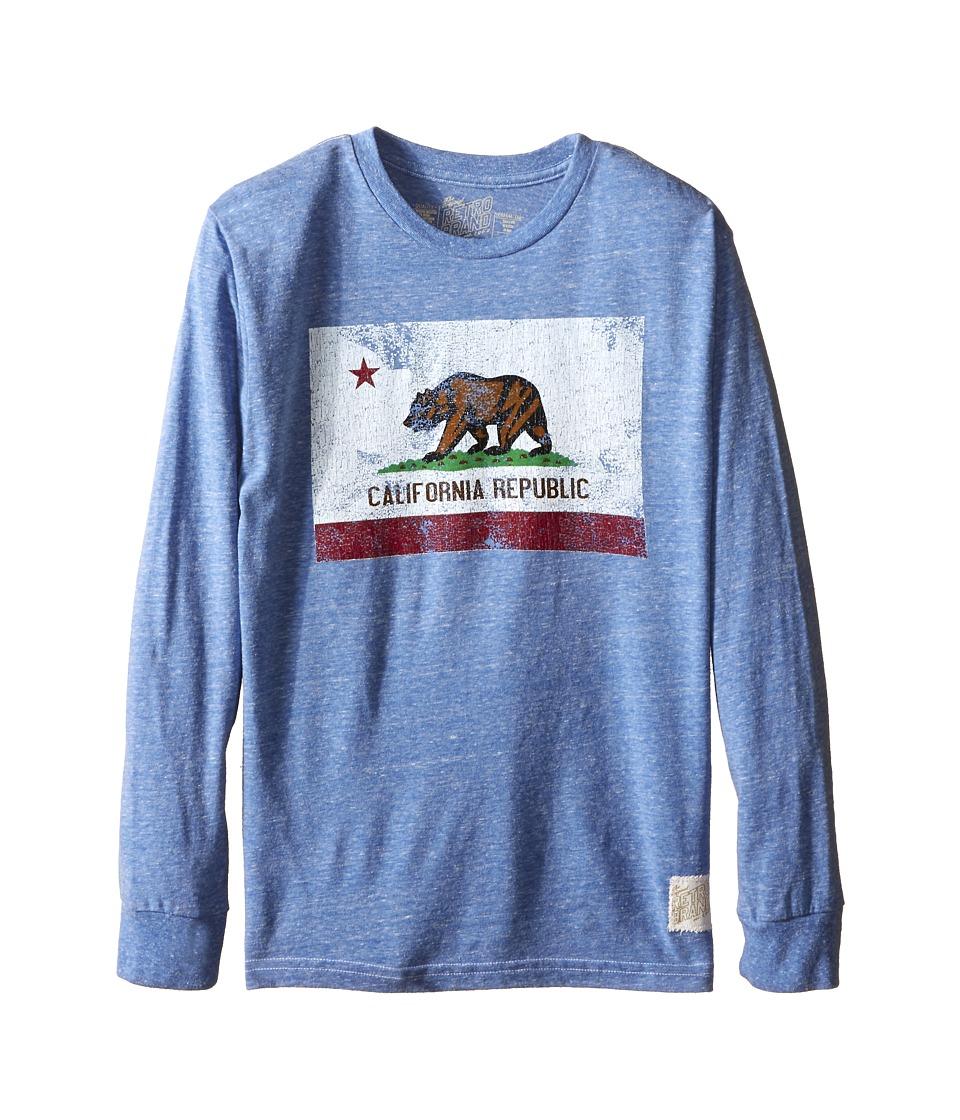 The Original Retro Brand Kids - Long Sleeve Tri-Blend California Flag Tee